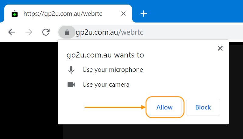 Allow WebRTC Camera Access